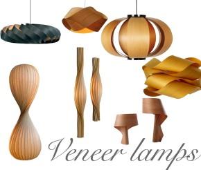 Wood Veneer Lamps