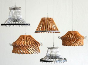 Stunning lamps made of hangers!